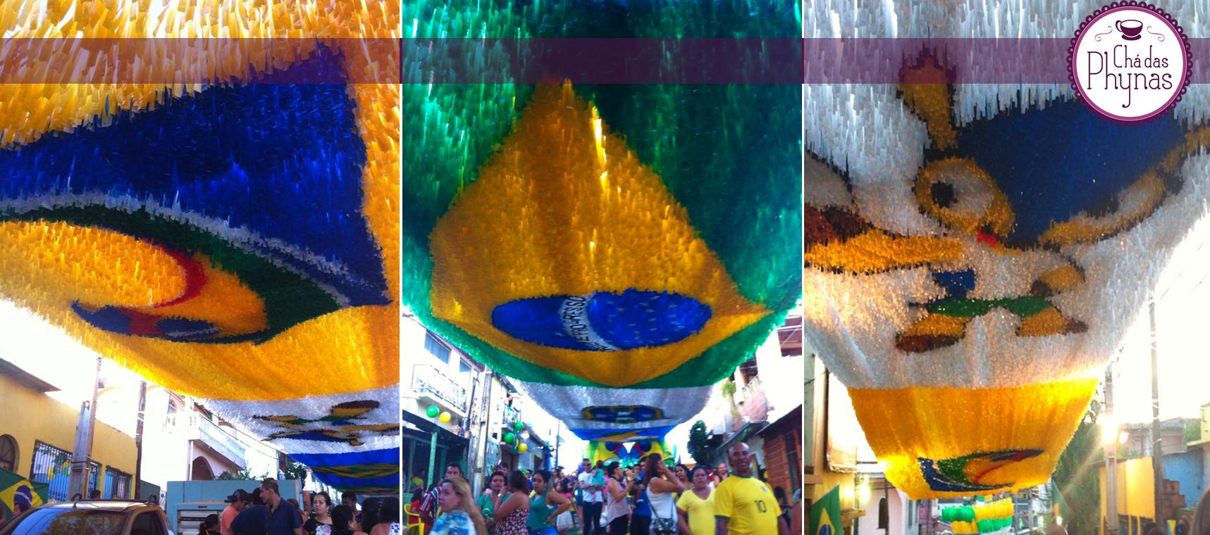 Rua 3, Bairro Alvorada, decorada para a Copa (Foto: Natália Wagner)
